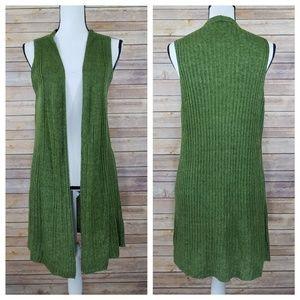 Eileen Fisher M MEDIUM Linen Knit Mid Cardigan